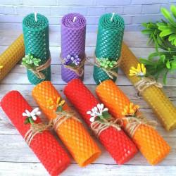 Свечи помогут вам испытать удовольствие от работы.  Оригинальные, экологически чистые, с натуральным ароматом мёда.